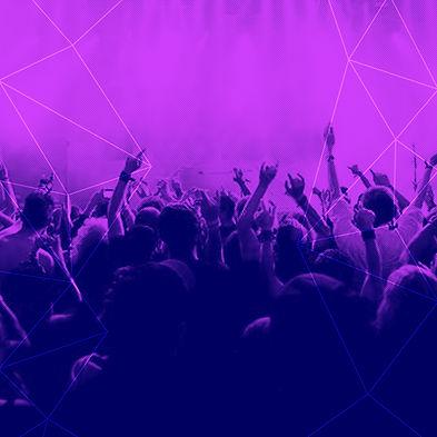 Фиолетовый толпы