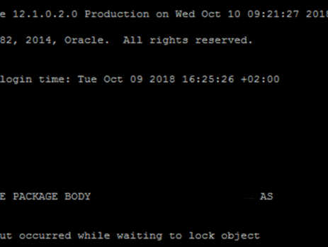 ORA-04021: TIMEOUT OCCURRED WHILE WAITING TO LOCK OBJECT