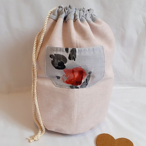 Large Project Bag - Kiss By A Rose