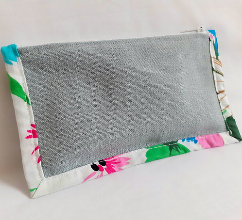 Notion Pouch - Abstract Floral on Duck Egg