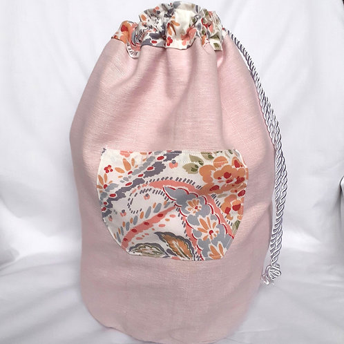 Large Project Bag - Paisley Flowers