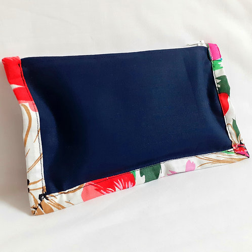 Notion Pouch - Abstract Floral on Navy