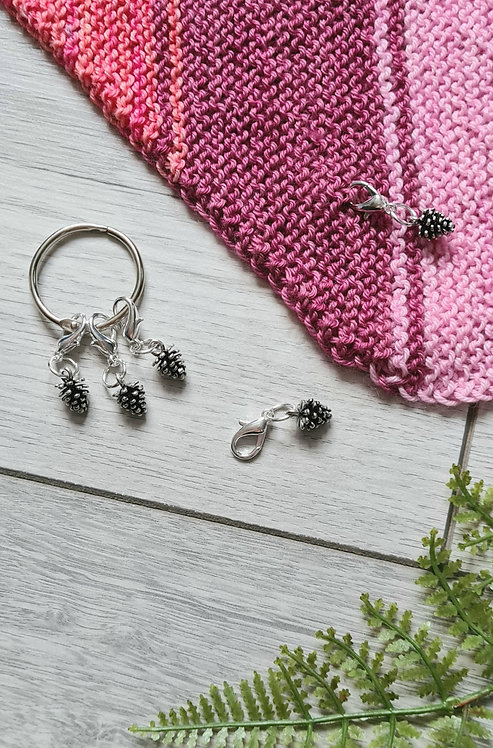 Fir Cone Stitch Markers / Progress Keepers