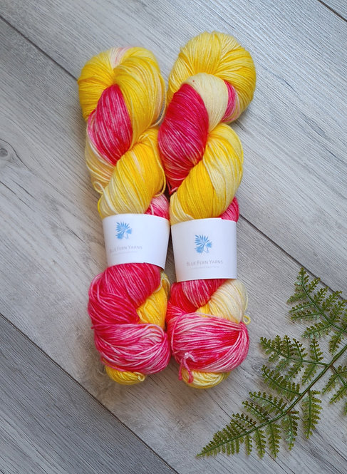 Tequila Sunrise 4ply/Sock Platinum Yarn