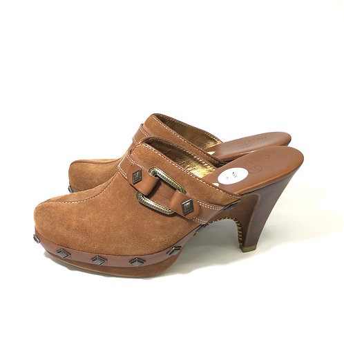 Cole Haan suede studded clogs