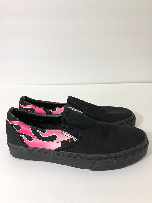Vans NWT Flames classic slip on