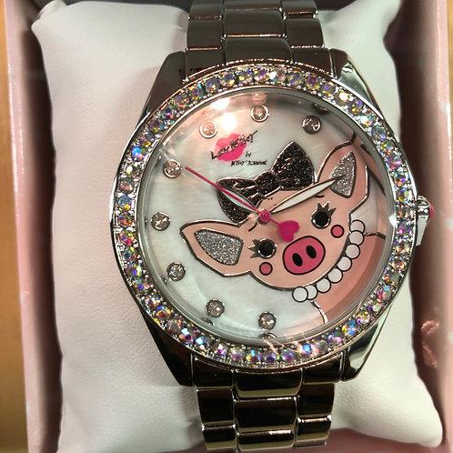 Betsey Johnson Pig watch