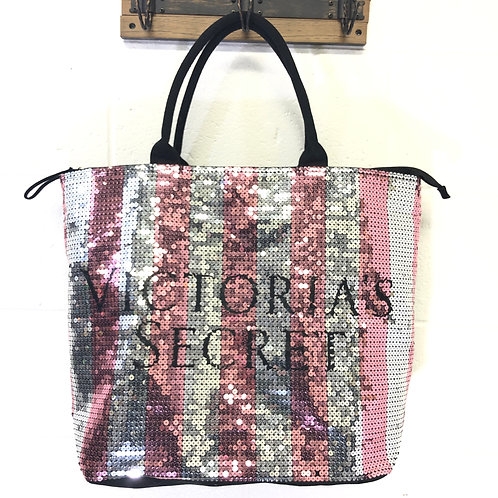 Victoria's Secret sequin travel bag