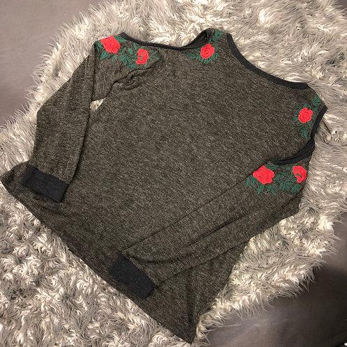 Umgee cold shoulder sweater dress