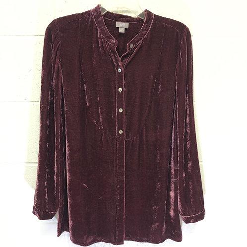 J. Jill velvet button up shirt