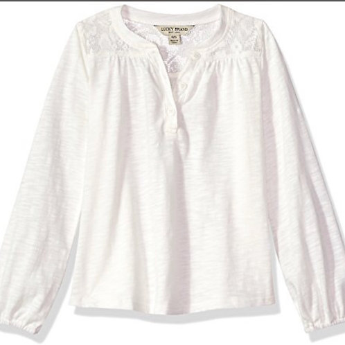 Lucky Brand girls peasant top