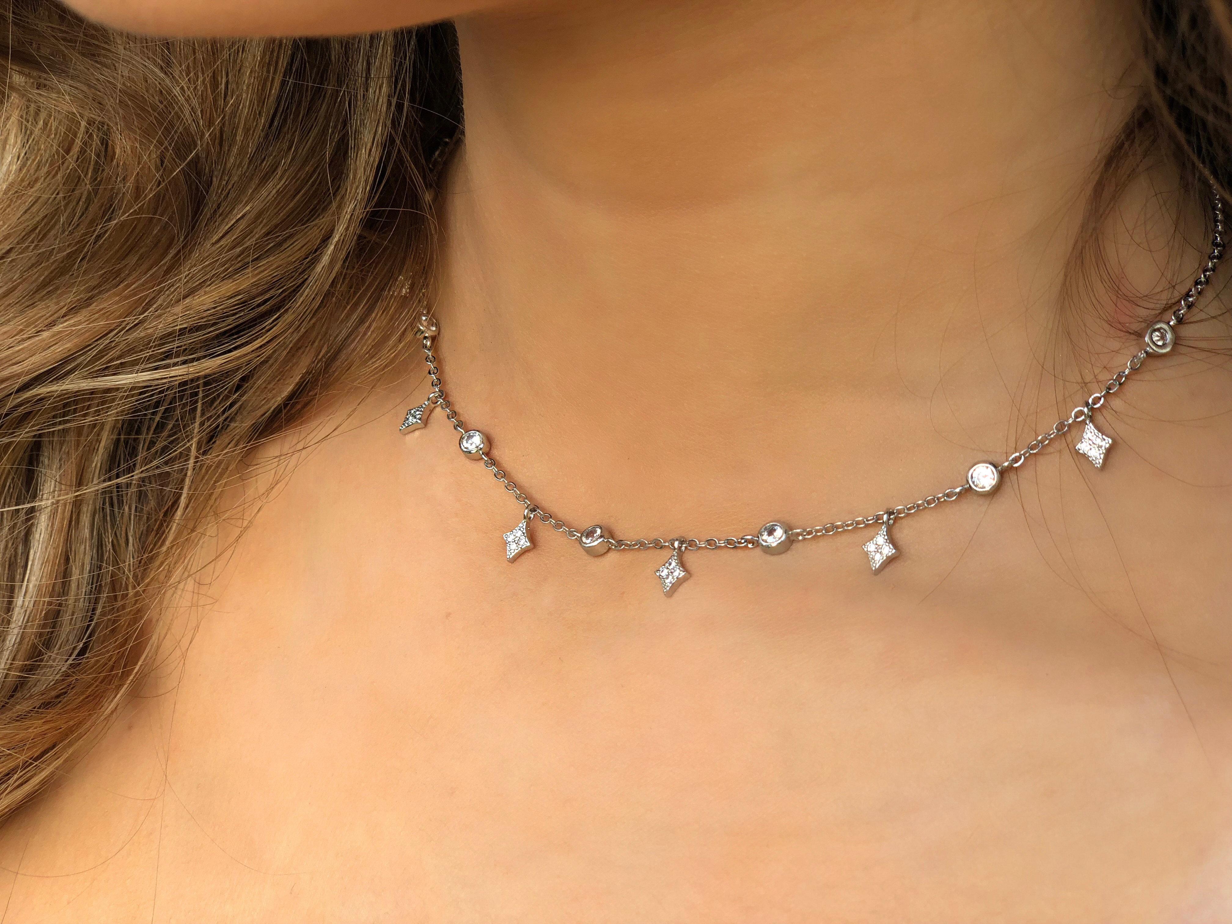 ebff3897c8f8b Star Dangle Necklace   Genia Jewels