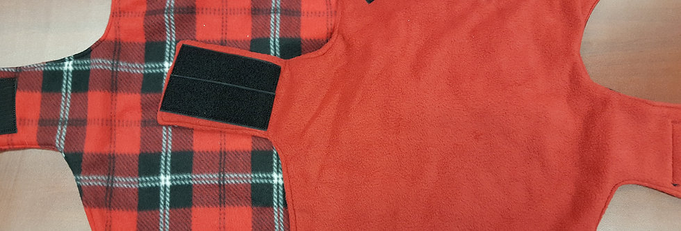 Red Checker/ Red Fleece