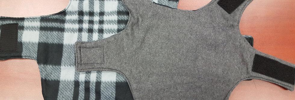 Gray Checker/Charcoal Fleece