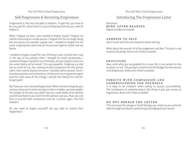 Foriviveness Letter
