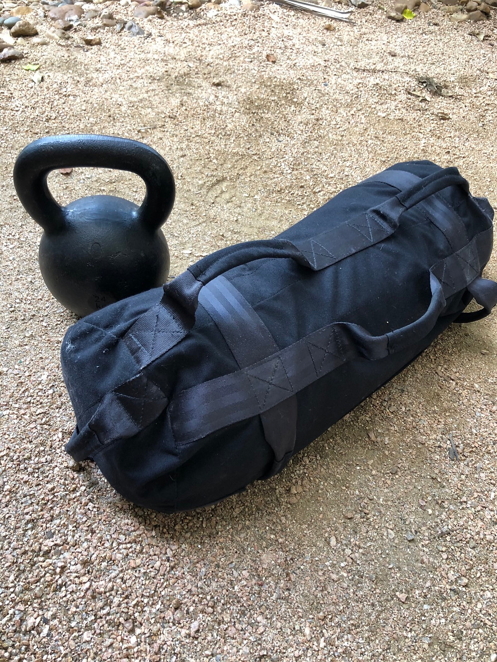 Sandbag and kettlebell workout