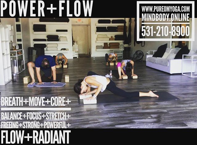 Wednesday night POWER+FLOW •TONIGHT 6_00
