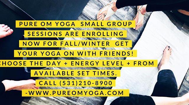#pureomyoga #small #group #sessions #yog