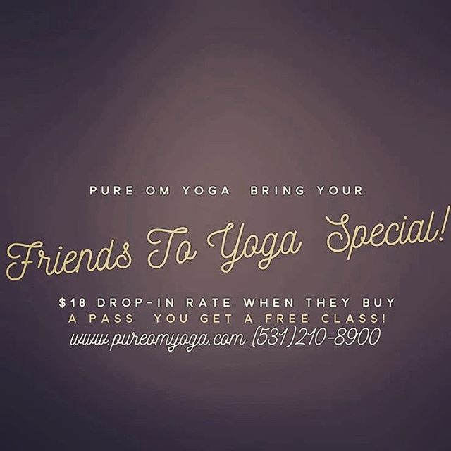 For a limited time at Pure Om Yoga ✨