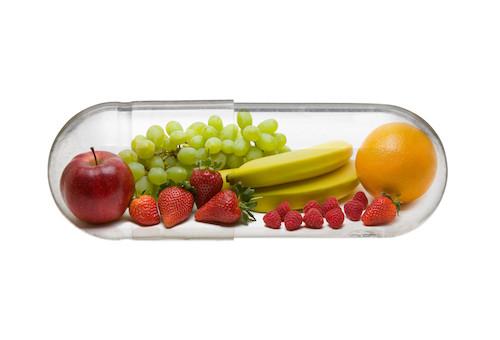 vitamins in a capsule