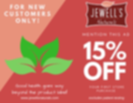 Jewell's Naturals New Custmer Offer
