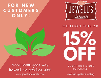 Jewell's Naturals New Customer Offer