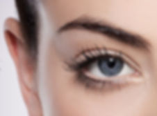 natural mascara on woman