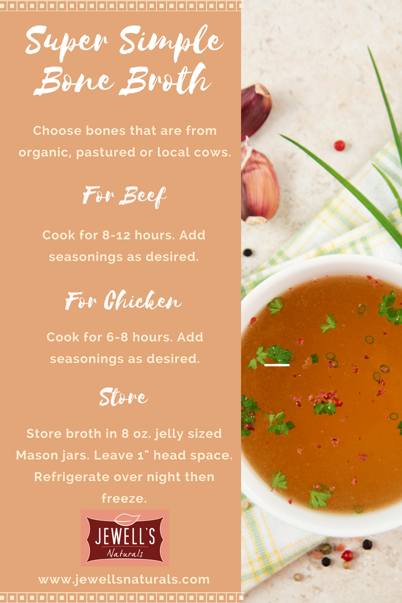 Bone Broth Recipe Infographic