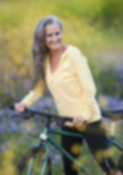 Older woman on bicycle