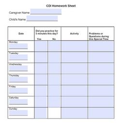 Fillable CDI Homework Sheet