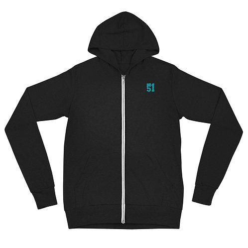 51 Unisex zip hoodie