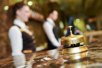Modern luxury hotel reception counter de