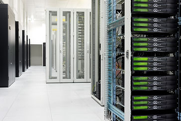 Clean industrial interior of a server ro