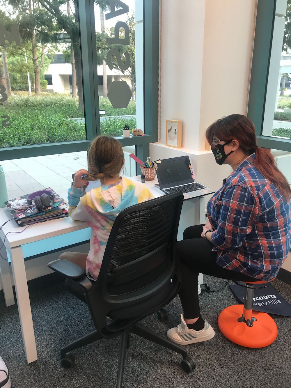 Tutoring at private workstation