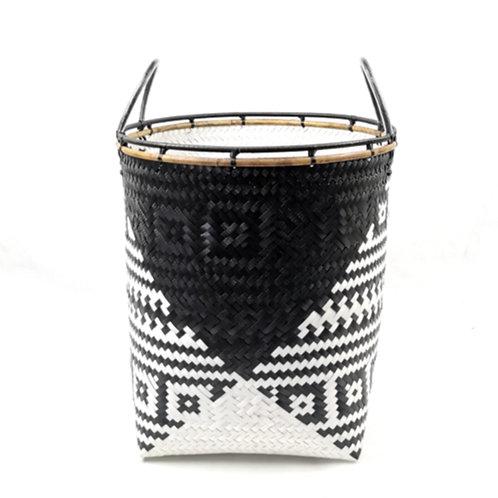 Laundry Basket (S) - Black/White