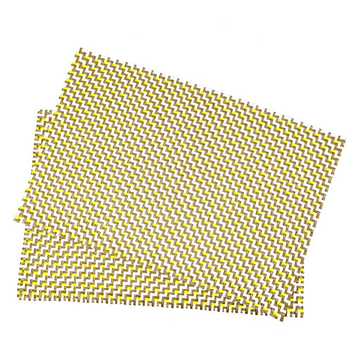 Tablemats -Yellow/Camel/White