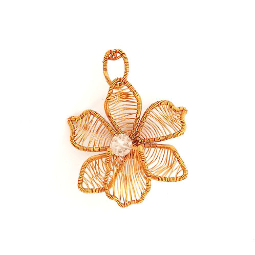 Pendant Copper Orchids*