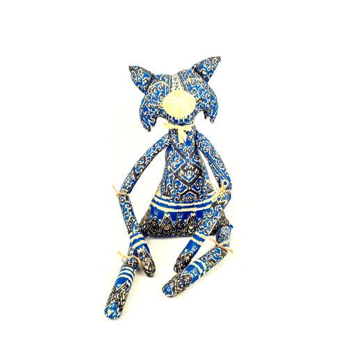 Fabric Doll - Batik Kooch Cat