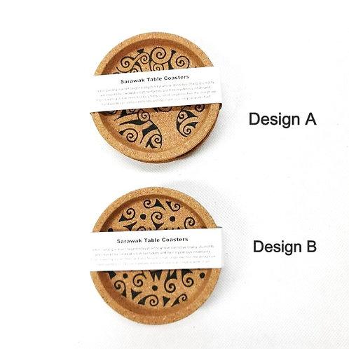 Handpainted Coaster Set of 2 pcs