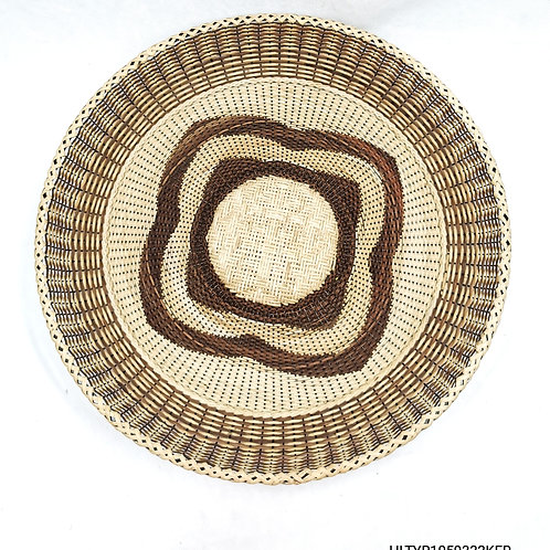"Rattan Fan Tray 17"" Pattern"