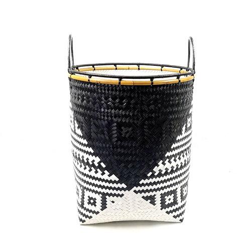 Laundry Basket (M) - Black/White