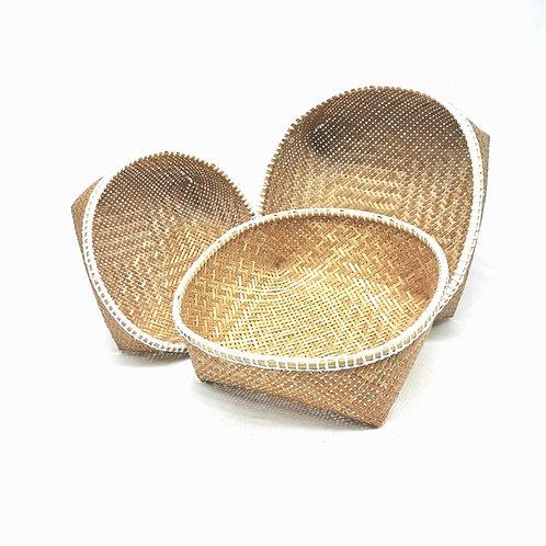 Basket set of 3pcs (White)