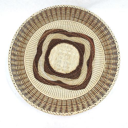 """Rattan Fan Tray 17"""" Pattern"""