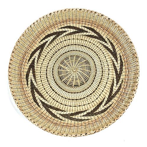 """Rattan Fan Tray 13.5"""" (pattern)"""