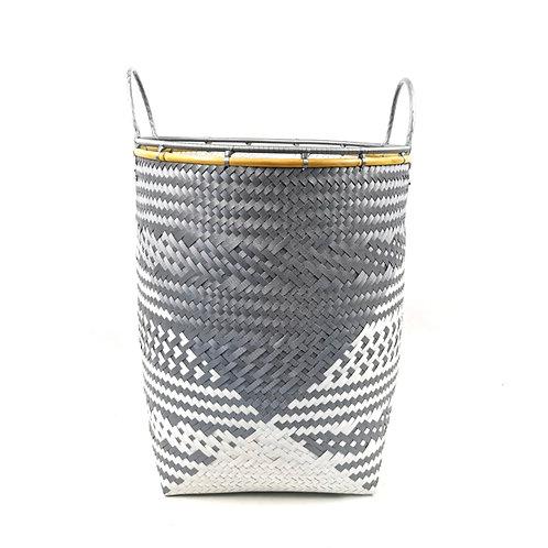 Laundry Basket (M)-Grey/White