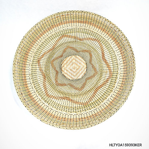 "Rattan Fan Tray 17"" Mix"