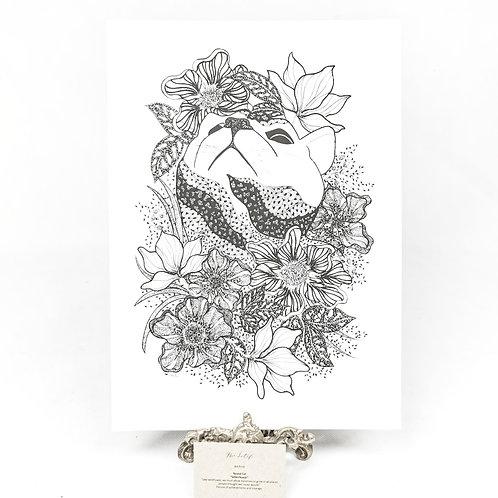 Artprint -Round Cat Wildflower*
