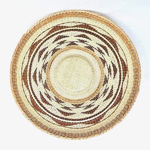 """Rattan Fan Tray 17"""" (pattern)"""
