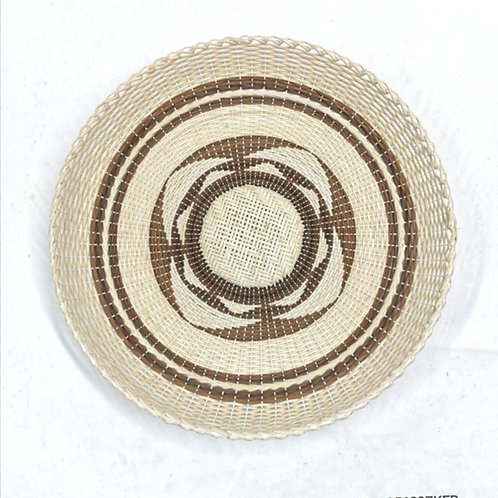"Rattan Fan Tray 13.5"" Pattern"
