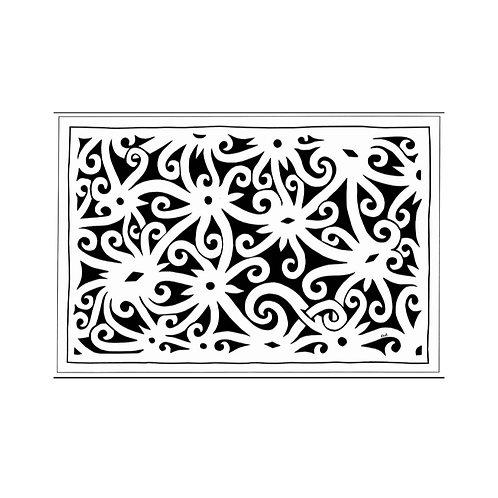 Tea Towel (Black) -Tree of Life